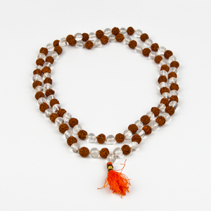 Rudraksha and Crystal Mala